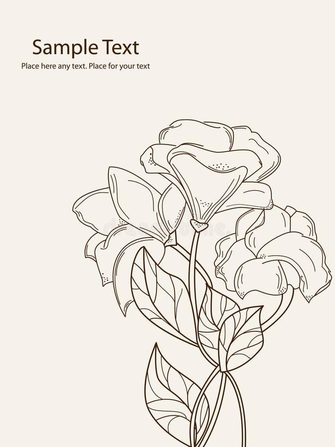 Hand drawn flowers royalty free illustration