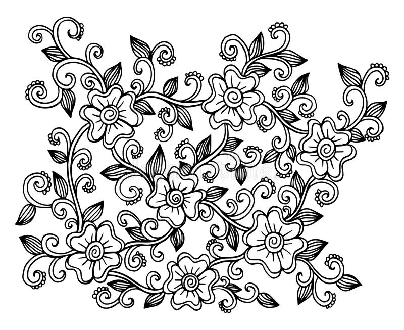 Download Hand Drawn Of Flowers Illustration Stock