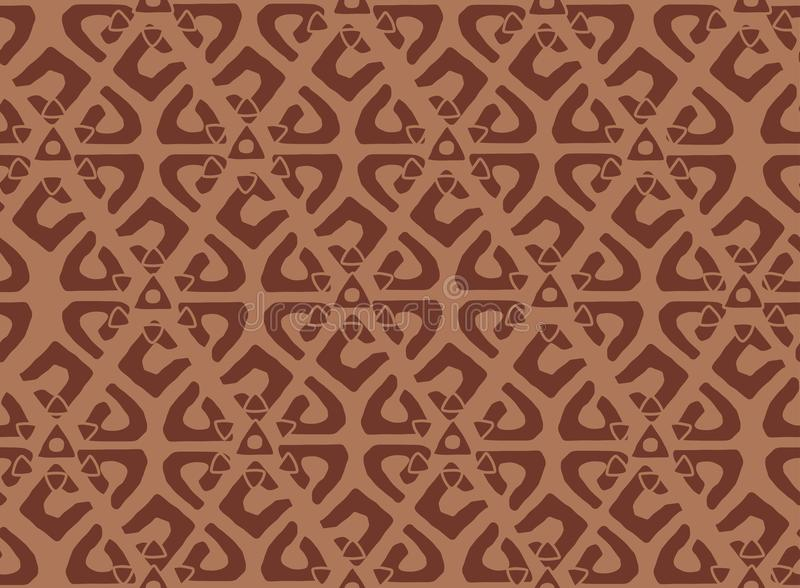 Seamless vector hand draws retro pattern. Ethnic decorative ornament. Tiled oriental background. royalty free illustration