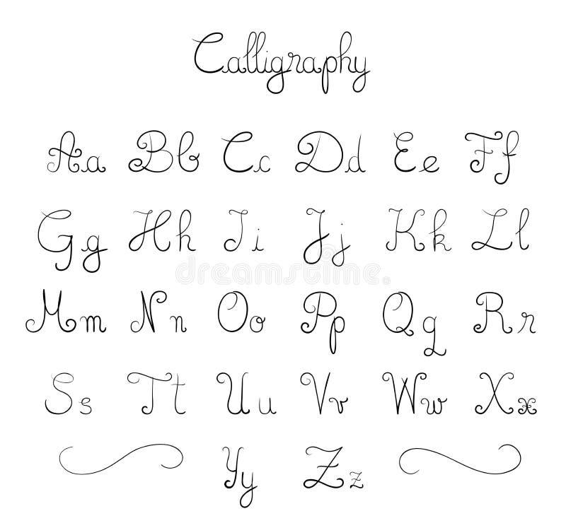 Hand drawn font stock illustration