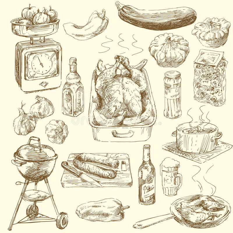 Free Hand Drawn Food Royalty Free Stock Images - 25891719