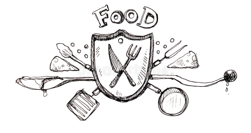 Food Icon Logo Drawing Royalty Free Stock Photography