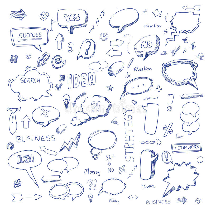 Hand drawn freestyle doodles royalty free illustration