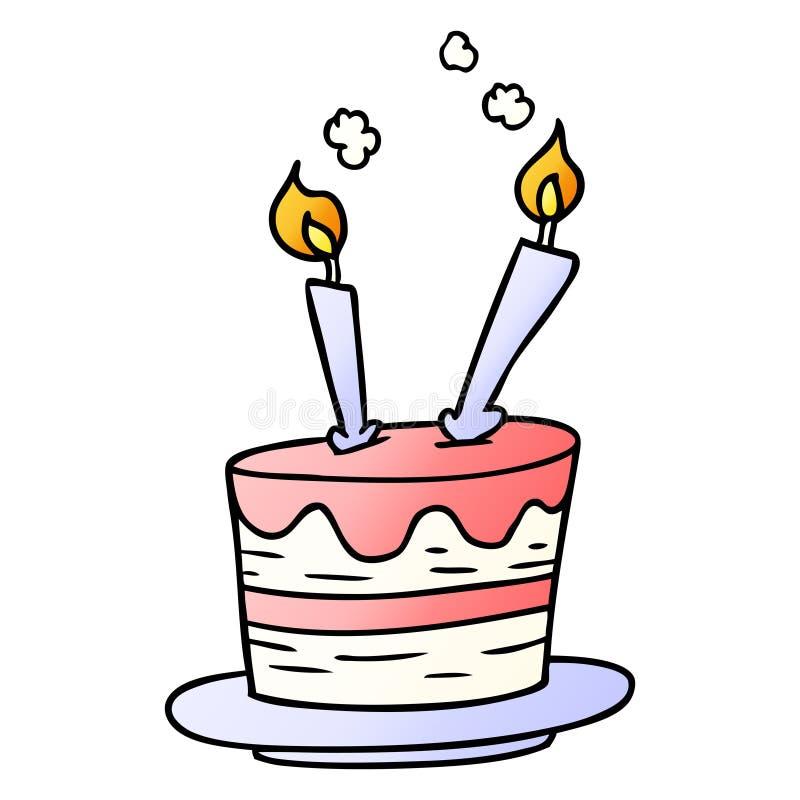 Gradient Cartoon Birthday Cake Food Celebration Free Hand Drawn Doodle Clip Art Artwork Illustration Stock Illustrations 2 Gradient Cartoon Birthday Cake Food Celebration Free Hand Drawn Doodle Clip Art Artwork Illustration