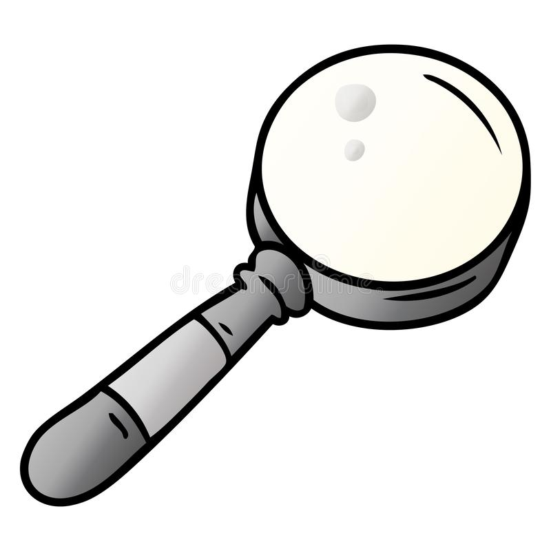 Hand drawn gradient cartoon doodle of a magnifying glass. A creative gradient cartoon doodle of a magnifying glass vector illustration