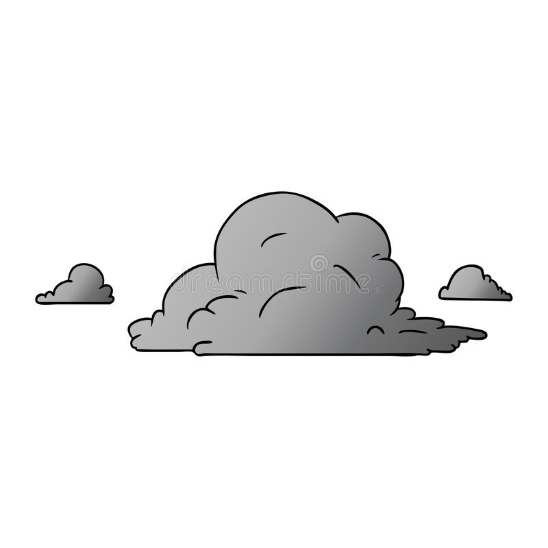 Cartoon Large White Clouds Weather Climate Dry Sunny Day