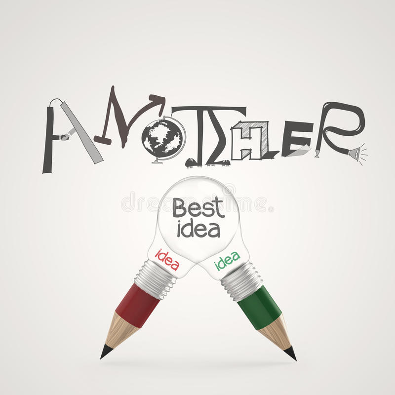 Hand drawn graphic design ANOTHER BEST IDEA vector illustration