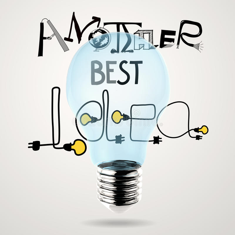 hand drawn graphic design ANOTHER BEST IDEA word stock illustration