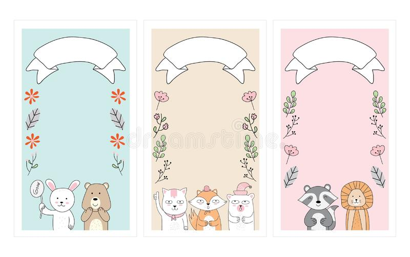 Cute greeting card, for all needs stock illustration