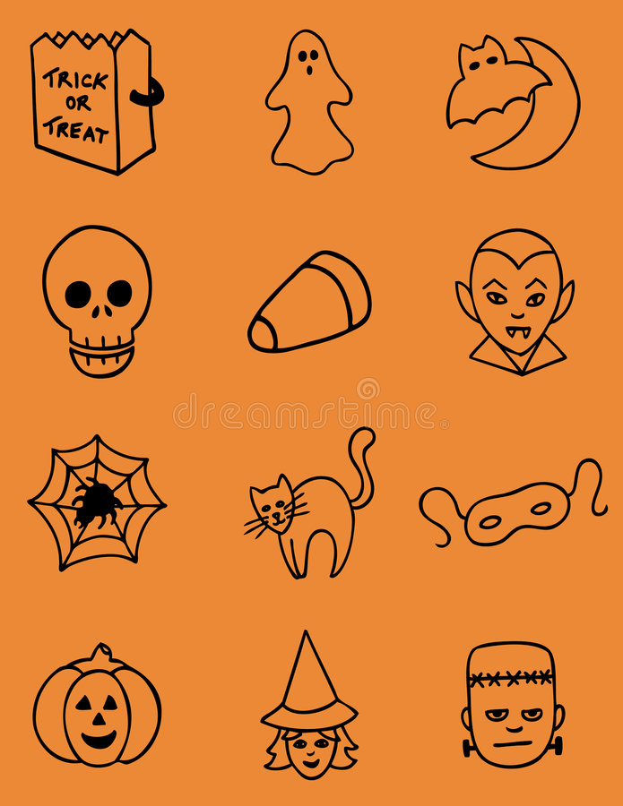 Download Hand Drawn Halloween Vector Icons Stock Photography - Image: 6600382