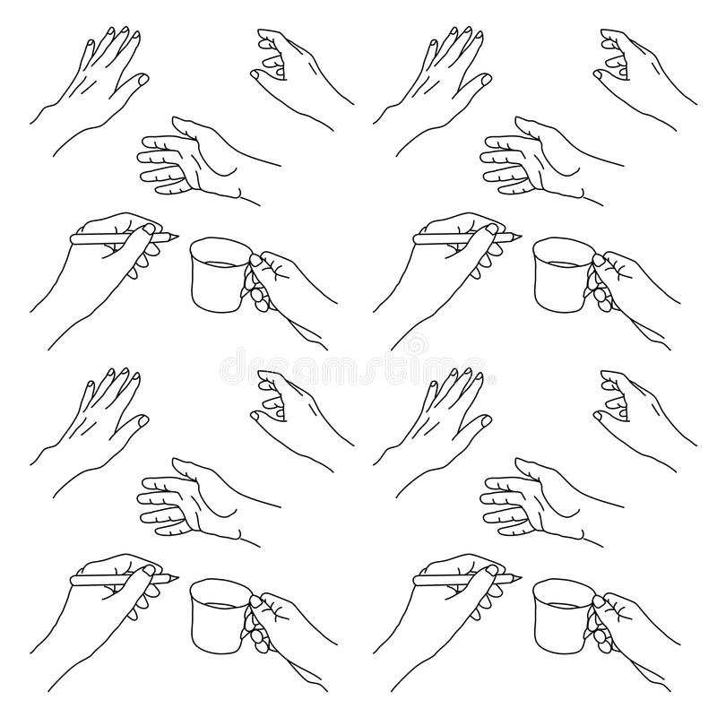 Hand drawn hands illustration vector illustration