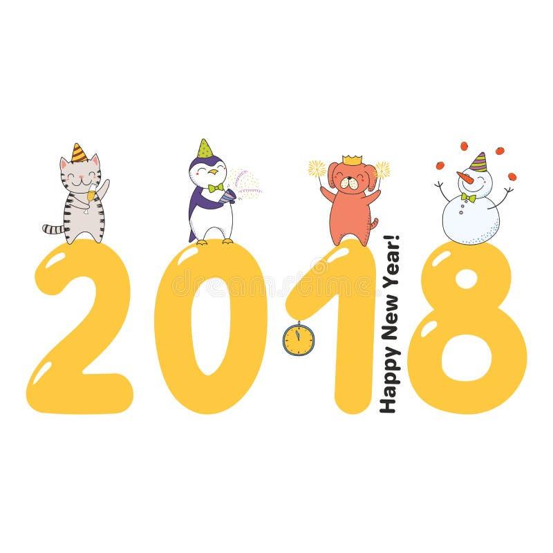 Cute new year card banner stock vector illustration of child download cute new year card banner stock vector illustration of child 105966446 m4hsunfo
