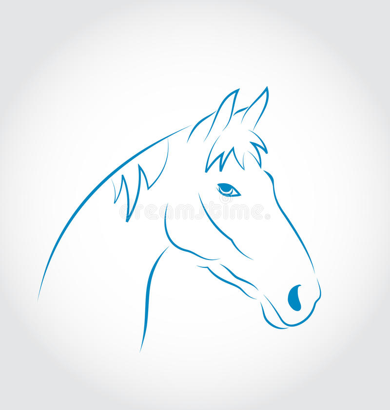 Download Hand Drawn Head Horse  On White Background Stock Vector - Illustration: 33100627