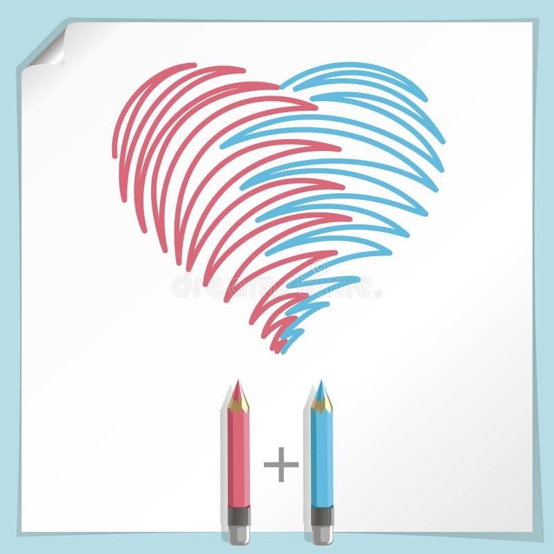 Free Hand Drawn Heart Royalty Free Stock Photo - 26062085