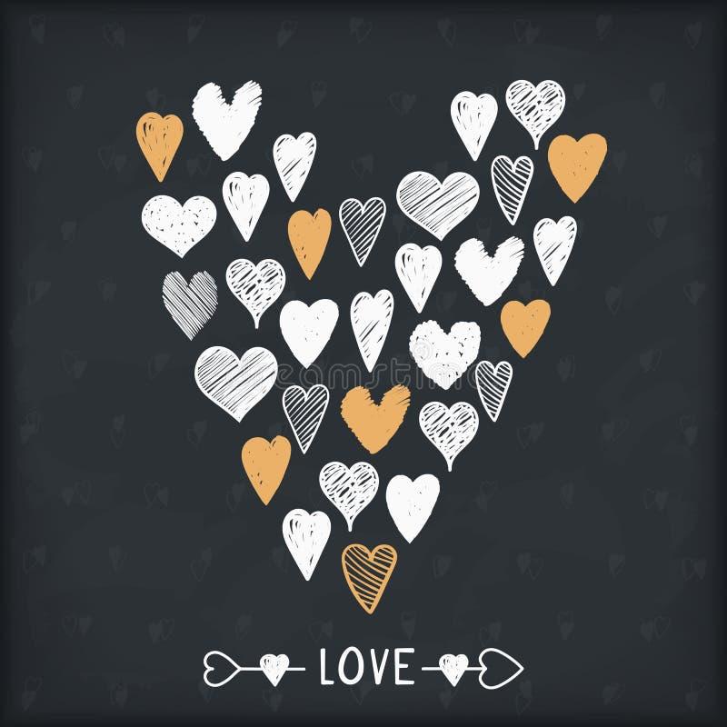 Hand Drawn Heart vector illustration