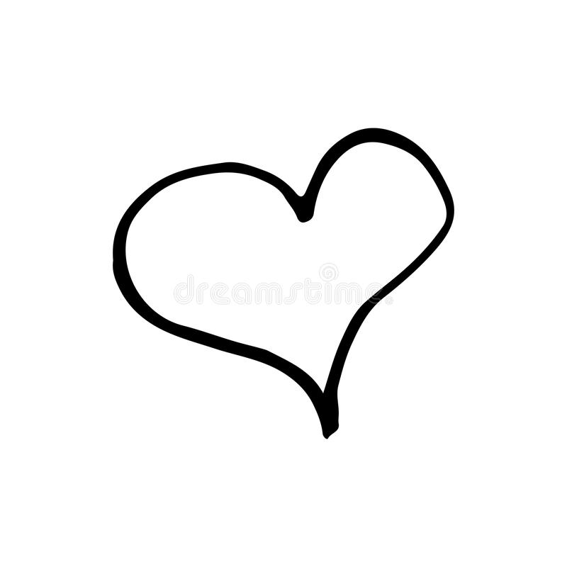 Hand Drawn Heart Vector Illustration royalty free stock photo