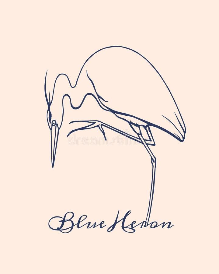 Free Hand Drawn Heron Stock Images - 71495374
