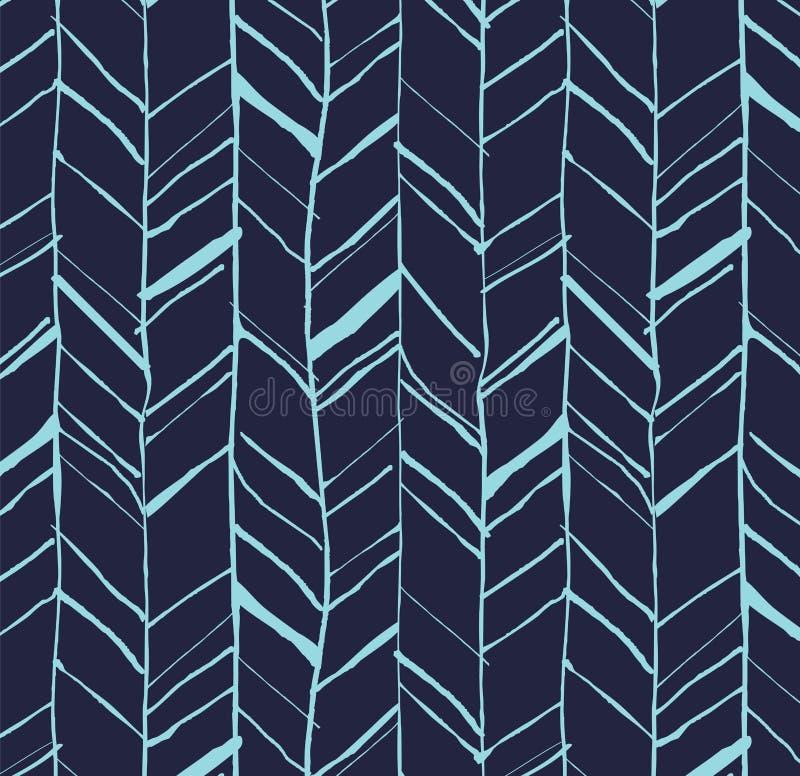 Hand drawn herringbone pattern stock illustration