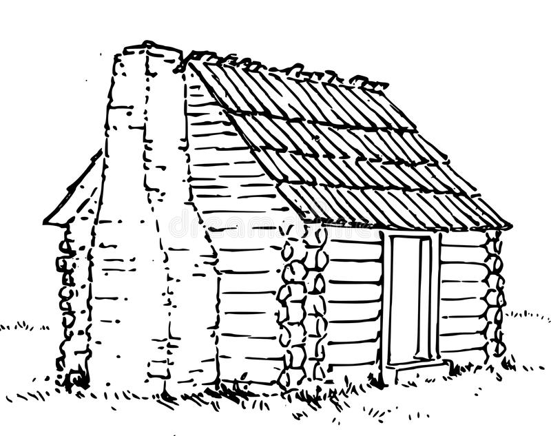 Hand Drawn Hut /eps Stock Image