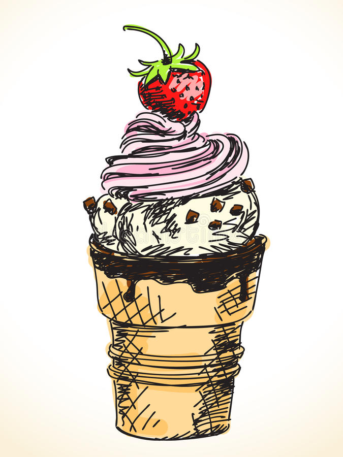 Free Hand Drawn Ice-cream Royalty Free Stock Photo - 39607485