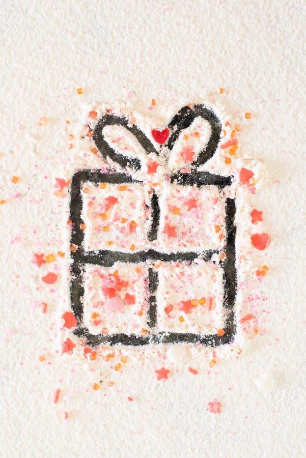 SUGAR GIFT FOR CHRISTMAS royalty free stock image