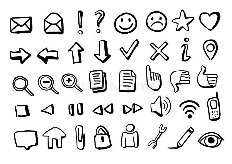 Hand-drawn icons vector illustration