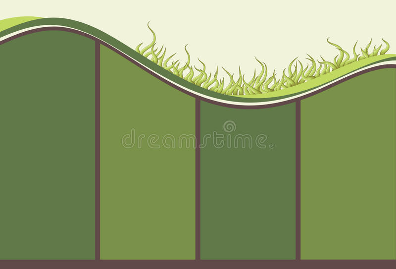 Hand drawn illustrated grassy background vector illustration