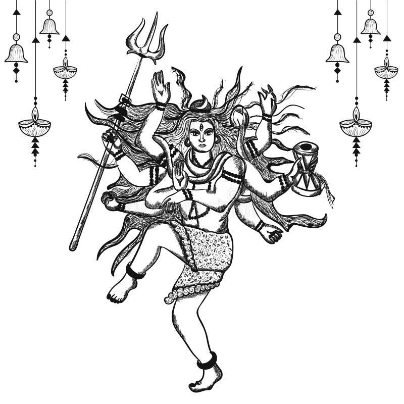 Shiva Sketch Stock Illustrations 328 Shiva Sketch Stock