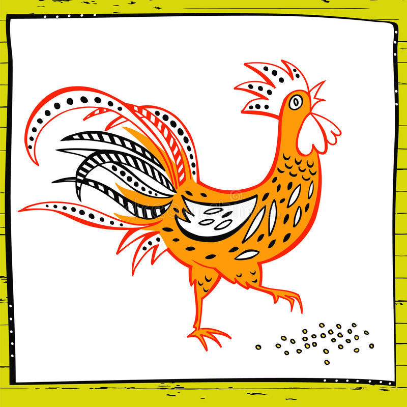 Free Hand Drawn Illustration Rooster Royalty Free Stock Photography - 71926947
