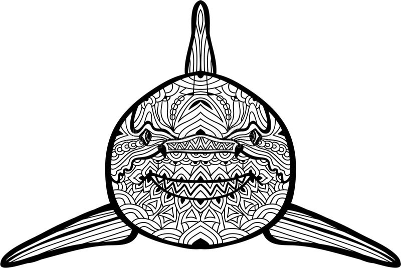 Hand-drawn Illustration. The Shark. Coloring Book Stock Vector ...