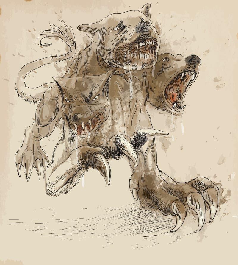 Download Cerberus stock vector. Image of creature, monster, artwork - 30023478