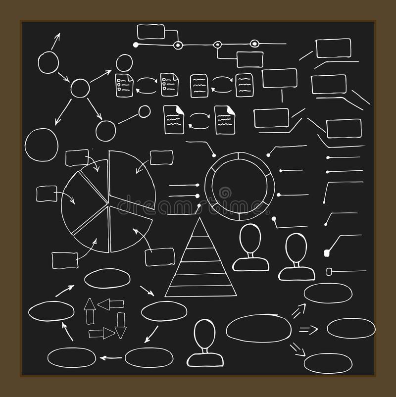 Hand drawn infographic elements. Vector collection stock photos