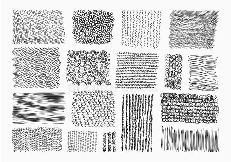 Hand drawn ink texture. vector illustration
