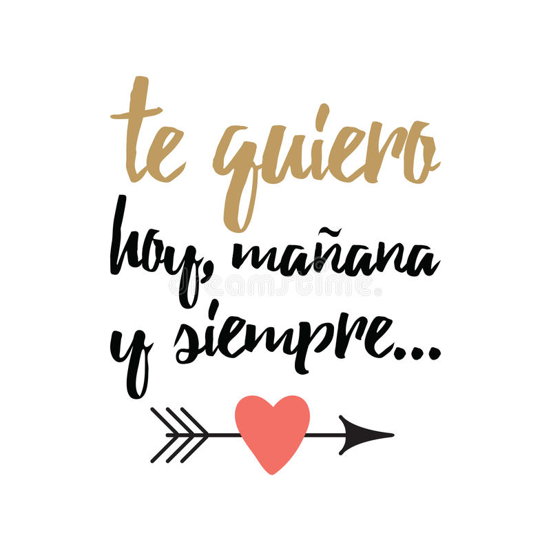 Hand Drawn Inspirational Love Quote In Spanish Retro