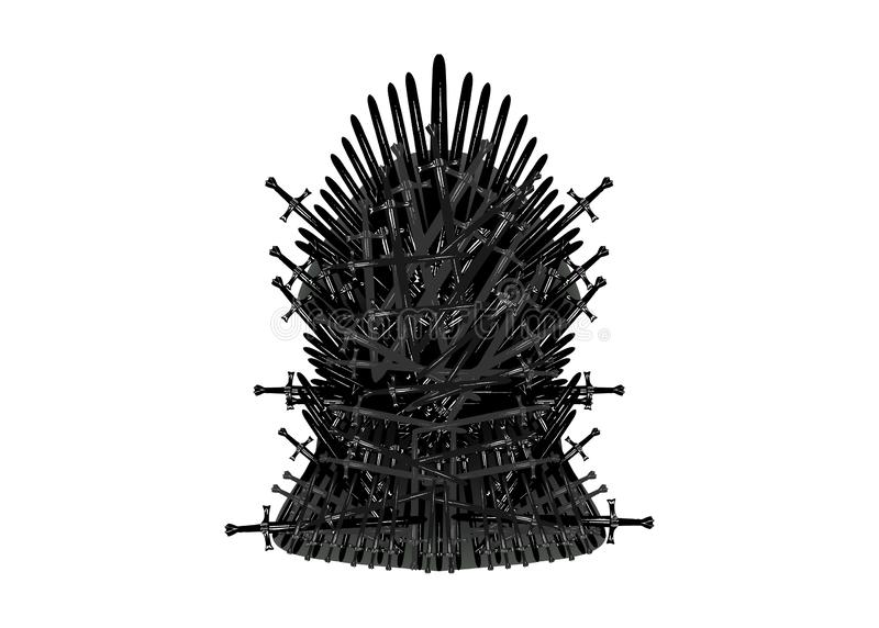 Iron throne icon. Vector illustration isolated or white background vector illustration
