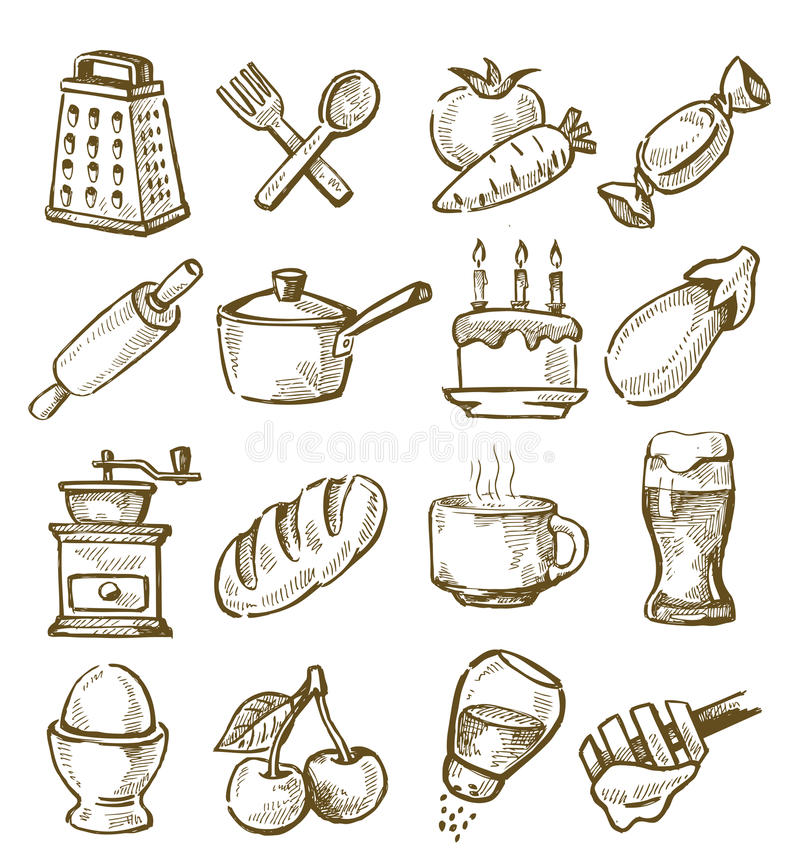 Hand Drawn Kitchen Stock Image