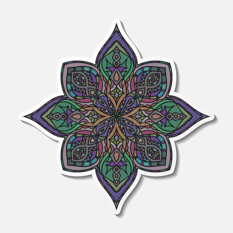 Hand drawn decorative mandala royalty free illustration