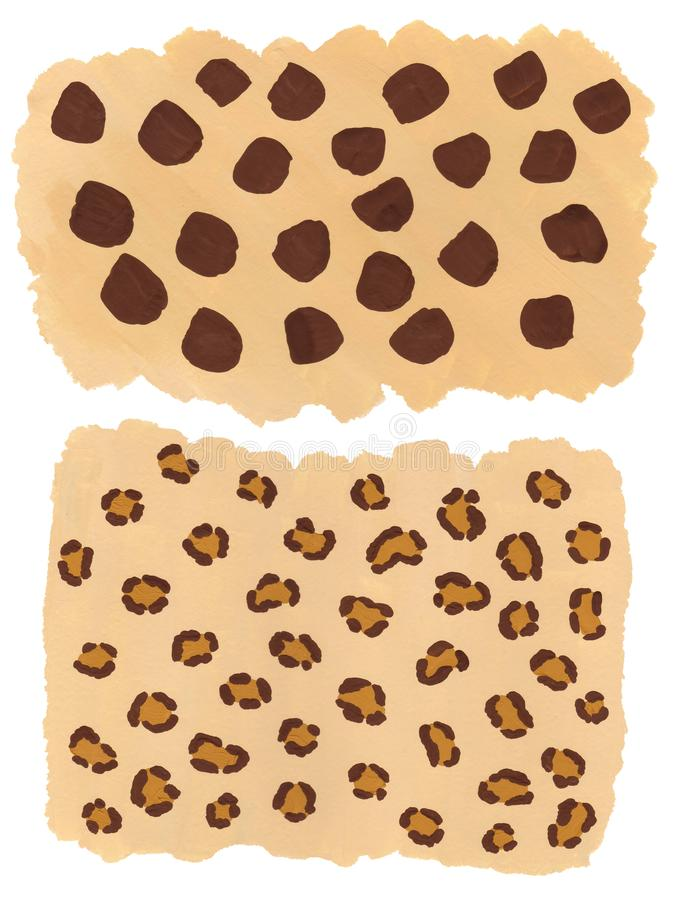 Hand drawn leopard and cheetah pattern vector illustration