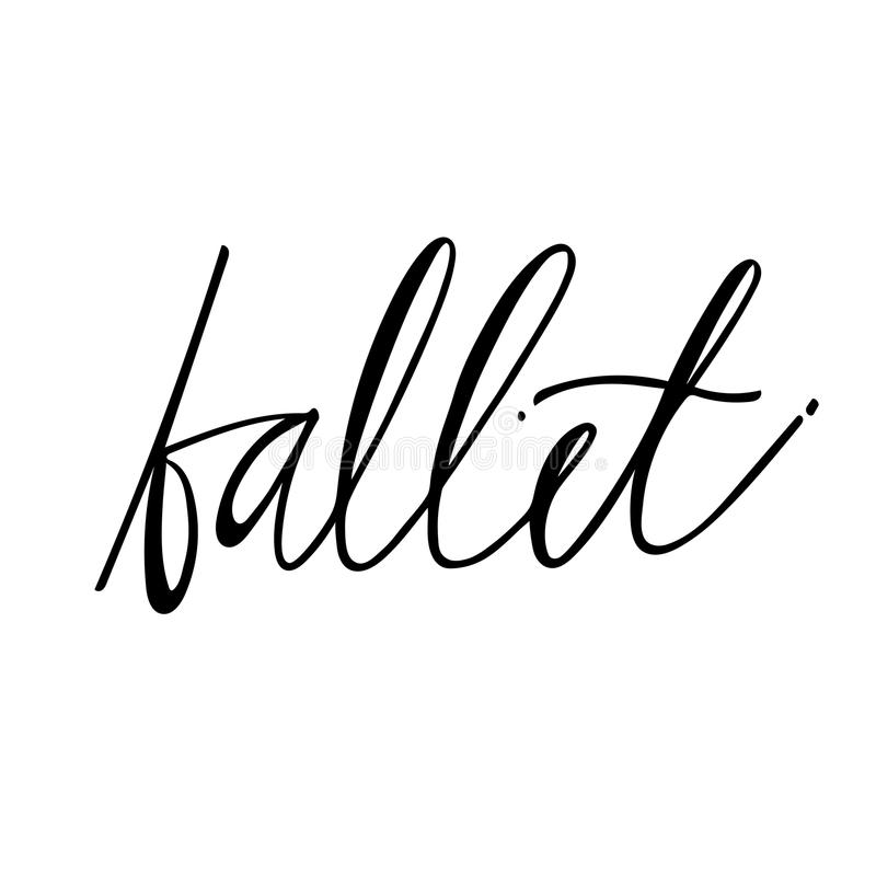 Hand drawn lettering. Ballet calligraphy. illustration. Hand drawn lettering. Ballet calligraphy. Vector illustration royalty free illustration