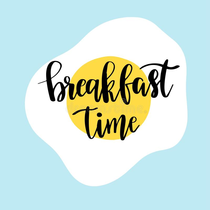 Hand Drawn Lettering Breakfast Morning For Card, Print, Poster Stock  Illustration - Illustration of coffee, card: 143887289