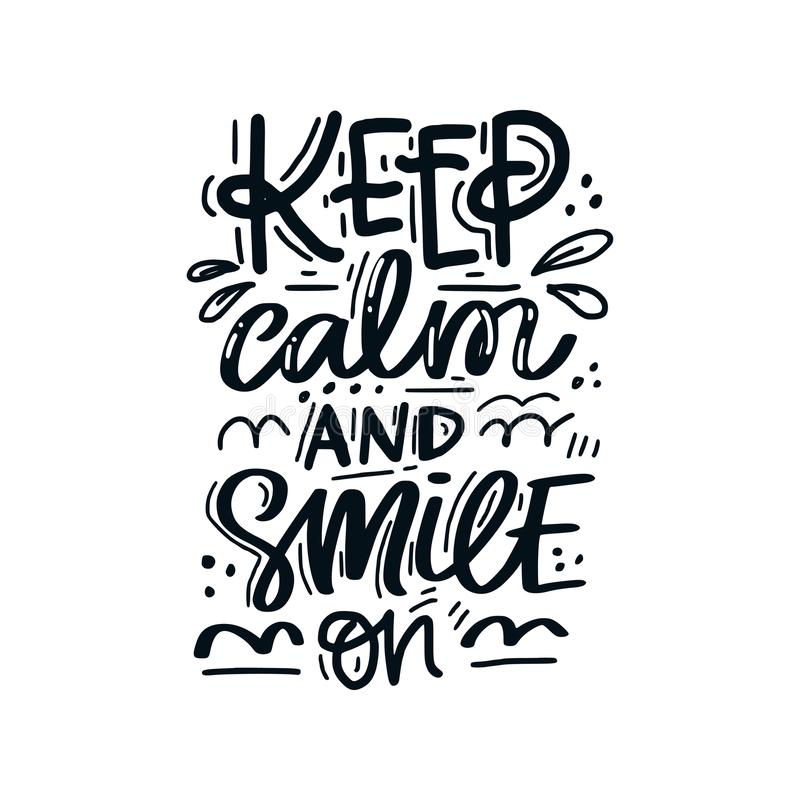 Keep Calm and Smile stock illustration