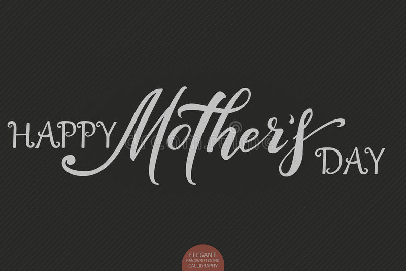 Hand drawn lettering happy mothers day elegant modern