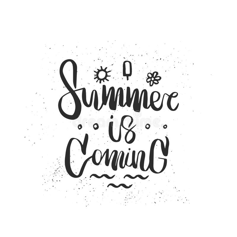 Download Hand Drawn Lettering Of A Phrase Summer Is Coming Stock Vector    Illustration Of Hand