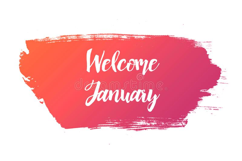 Welcome January Stock Illustration Illustration Of Board