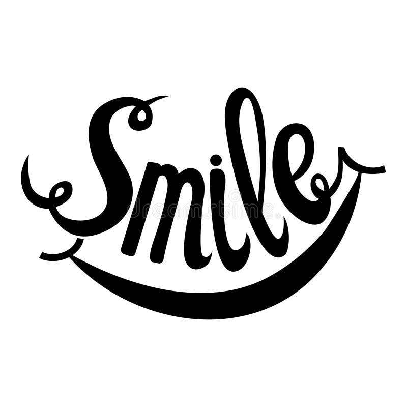 Hand Drawn Lettering Word Smile vector illustration