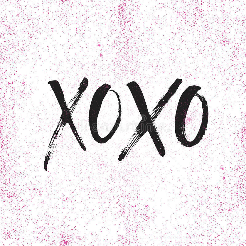 Free Hand Drawn Lettering XOXO Royalty Free Stock Photos - 84130398