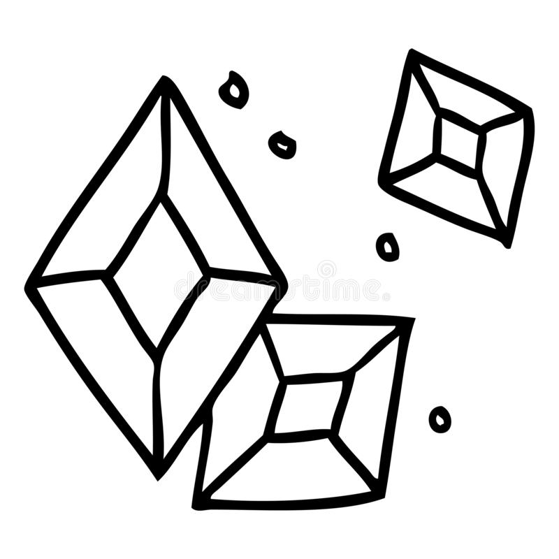 Hand drawn line drawing doodle of some ruby gems. A creative line drawing doodle of some ruby gems vector illustration