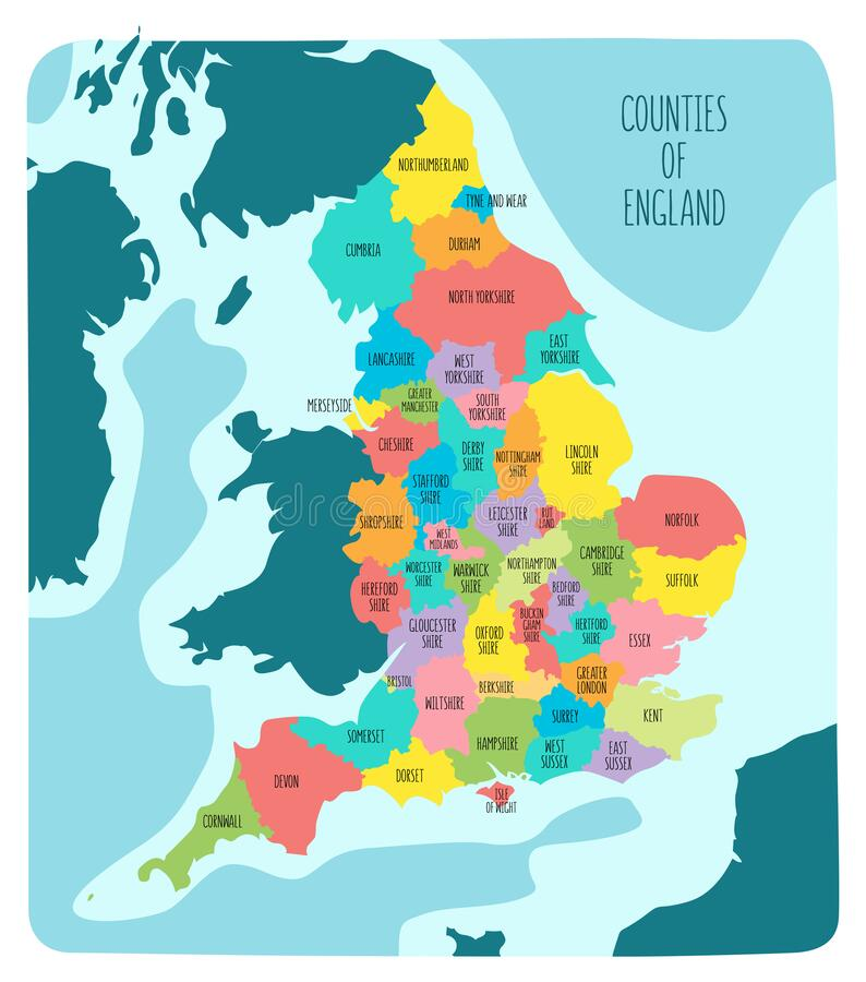 Map England Counties Stock Illustrations 267 Map England