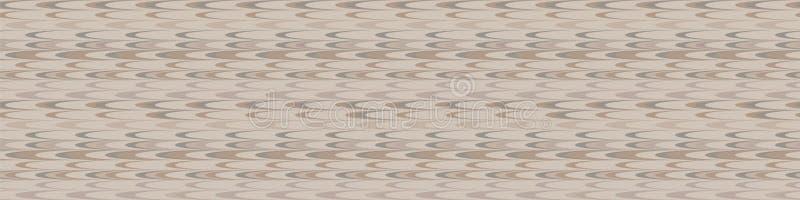 Hand drawn marble broken vertical stripe seamless border pattern. Modern lines, hand drawn in brown, gray, ecru neutral tones. Ribbon trim for home decor royalty free illustration