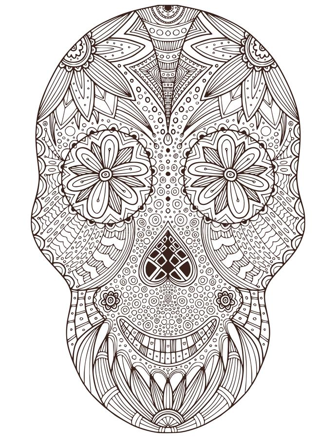 Skull Coloring Pages Collection - Whitesbelfast | 900x690